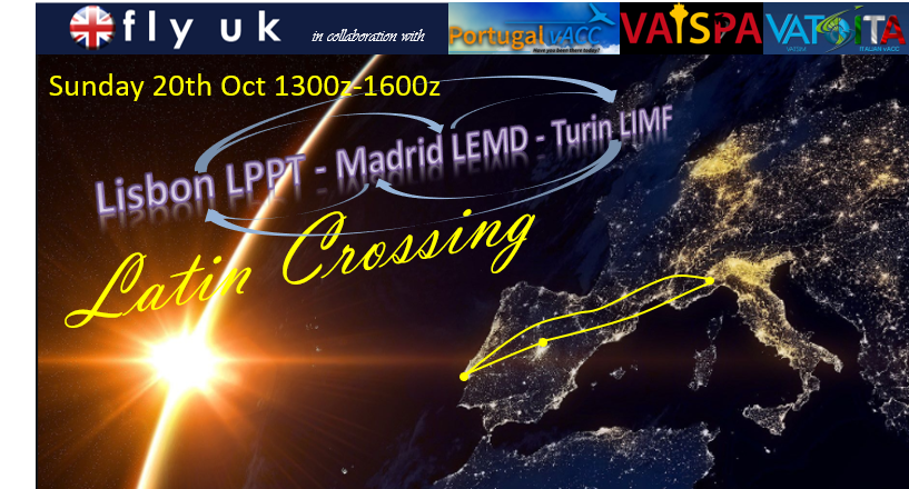 VATSIM by FlyUK.  Latin Crossing Triple Airbridge