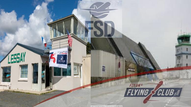 FRANCE  Lessay Airport (ILFOM) to  Quimper–Pluguffan Airport (LFRQ)